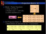 projection matrix m