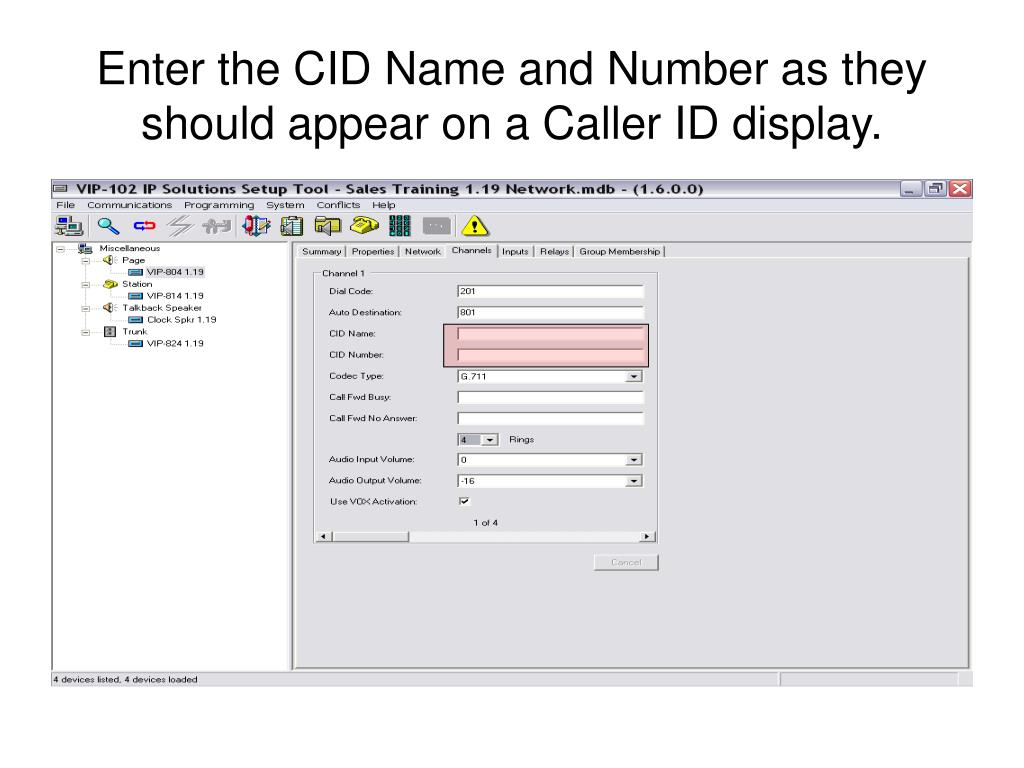 Enter the CID Name and Number as they should appear on a Caller ID display.