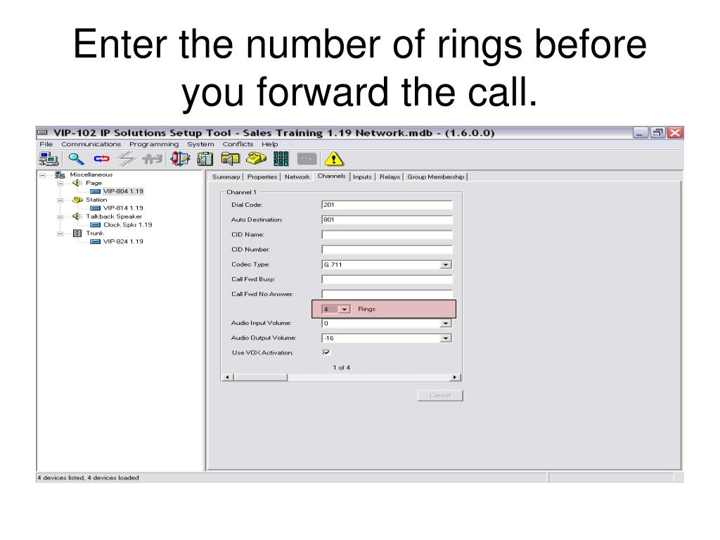 Enter the number of rings before you forward the call.