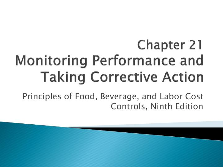 chapter 21 monitoring performance and taking corrective action n.