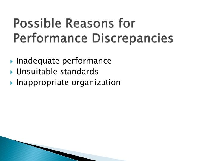 Possible Reasons for