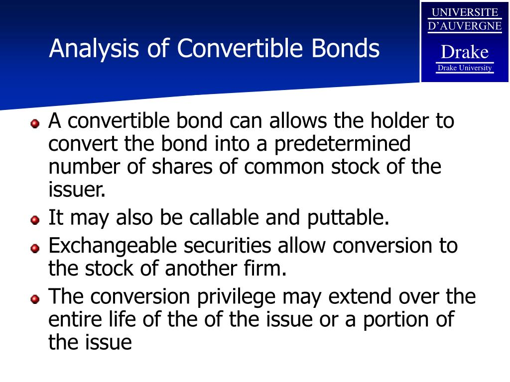Analysis of Convertible Bonds