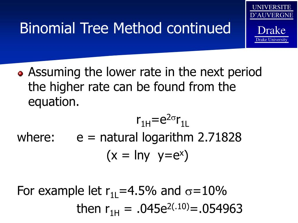 Binomial Tree Method continued