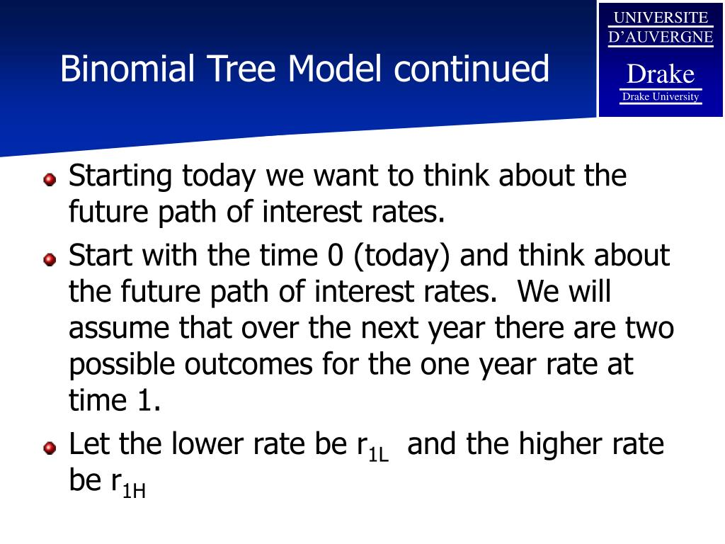 Binomial Tree Model continued