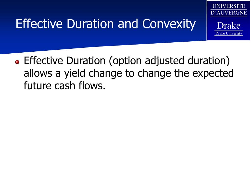 Effective Duration and Convexity