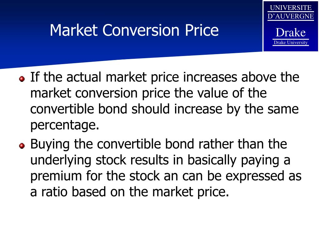 Market Conversion Price
