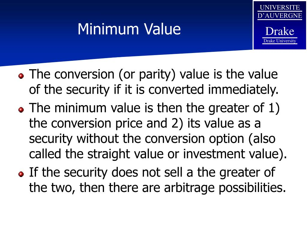 Minimum Value