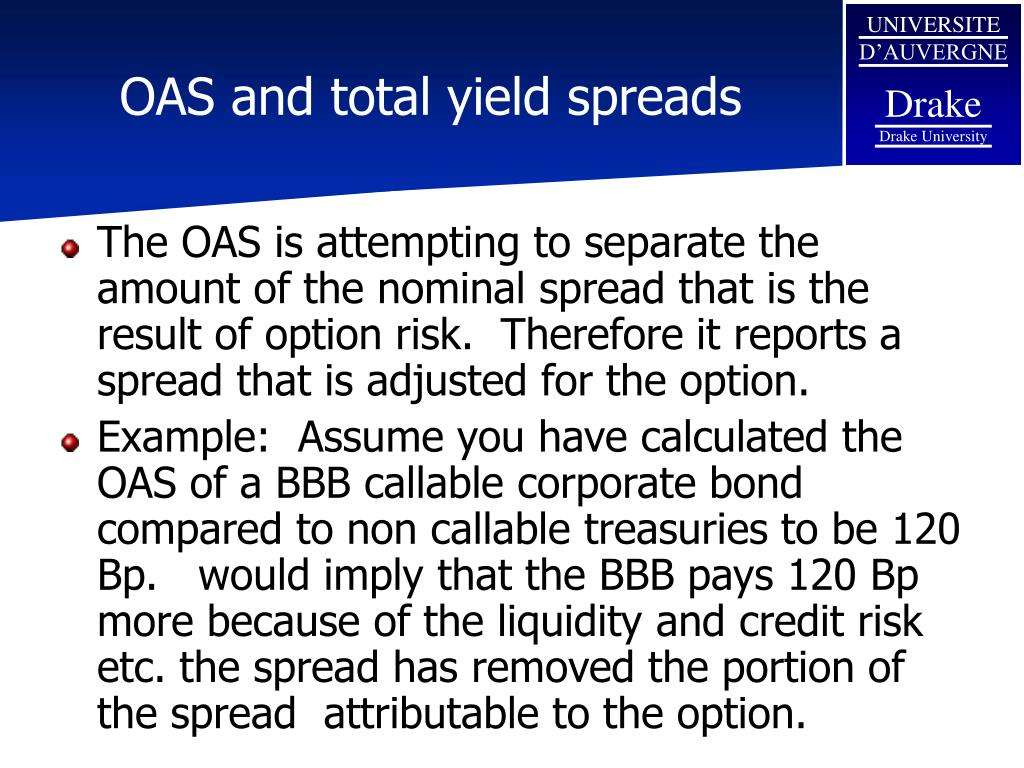 OAS and total yield spreads