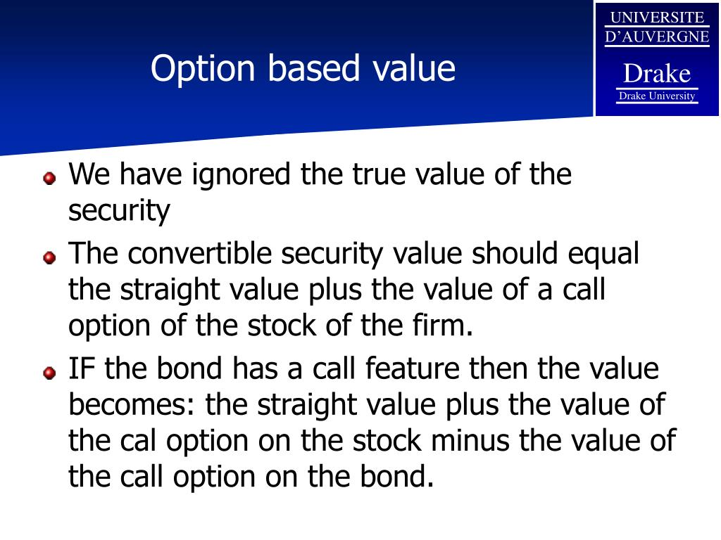 Option based value