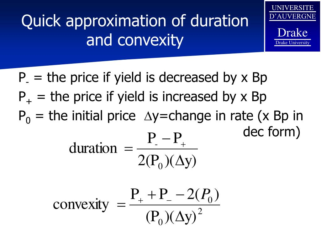Quick approximation of duration and convexity