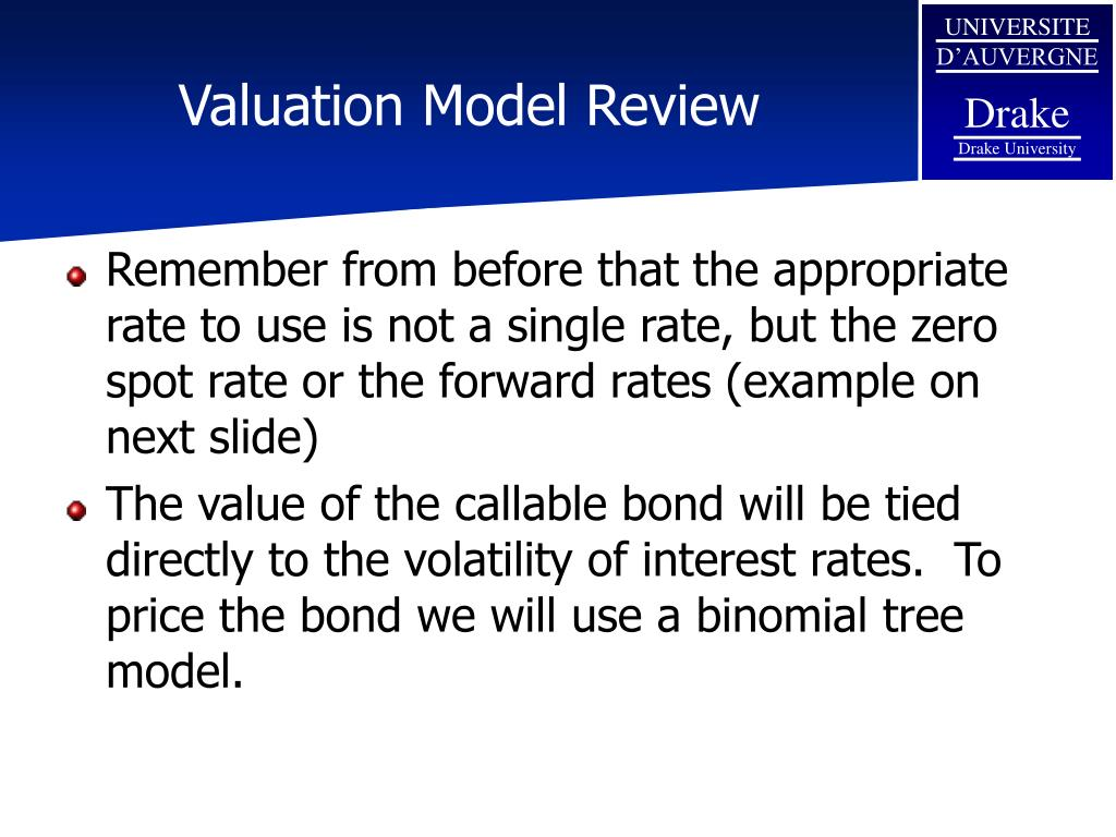 Valuation Model Review