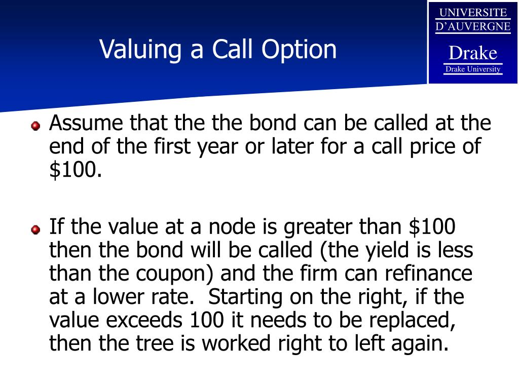 Valuing a Call Option