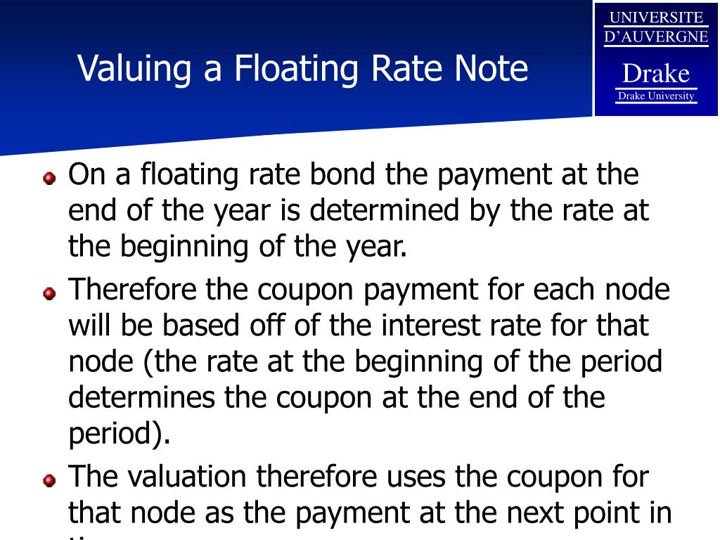 Valuing a Floating Rate Note