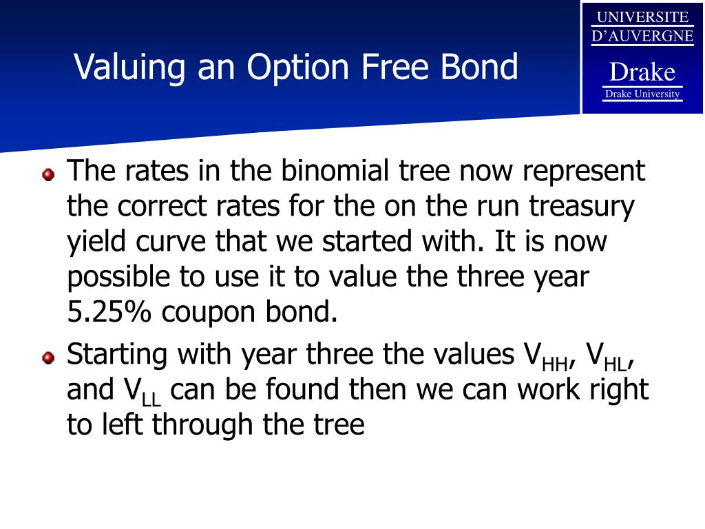 Valuing an Option Free Bond