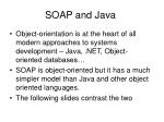 soap and java