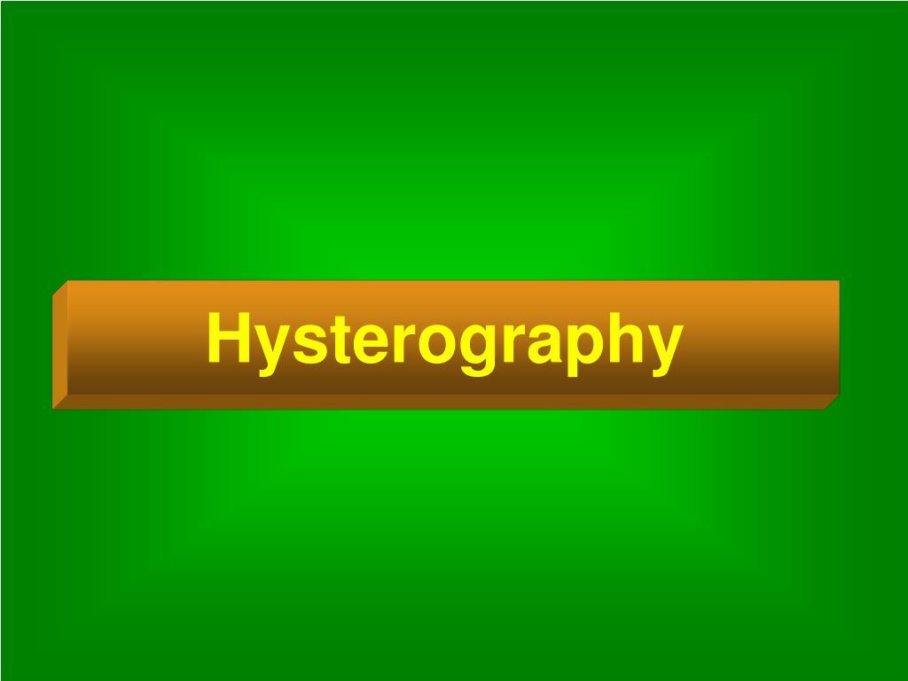 Hysterography