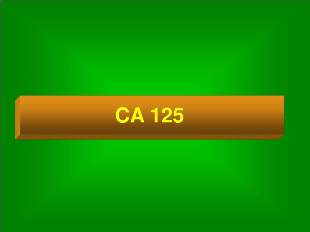 CA 125