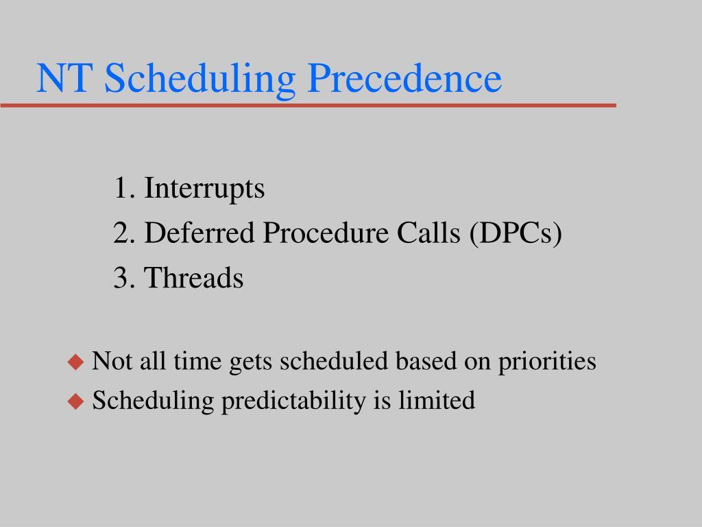 NT Scheduling Precedence