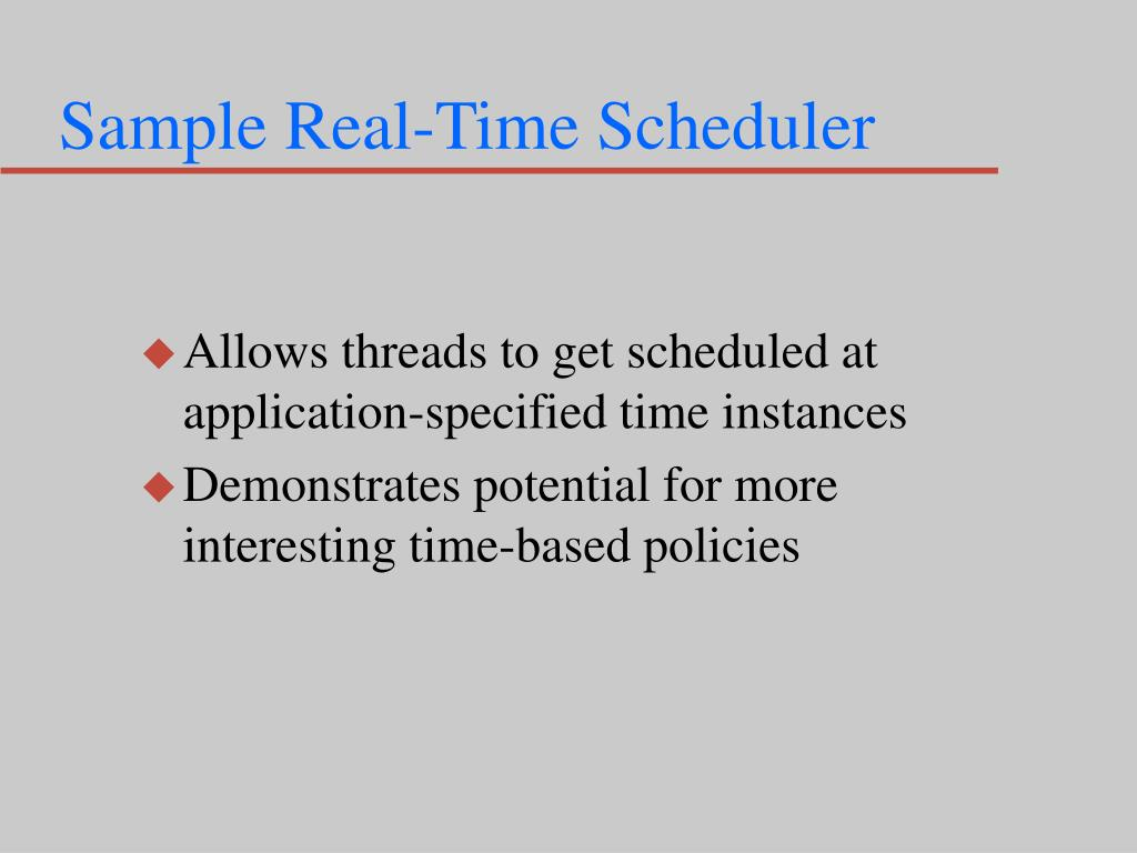 Sample Real-Time Scheduler
