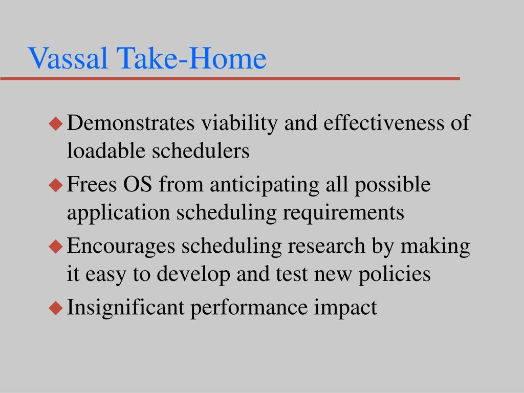 Vassal Take-Home