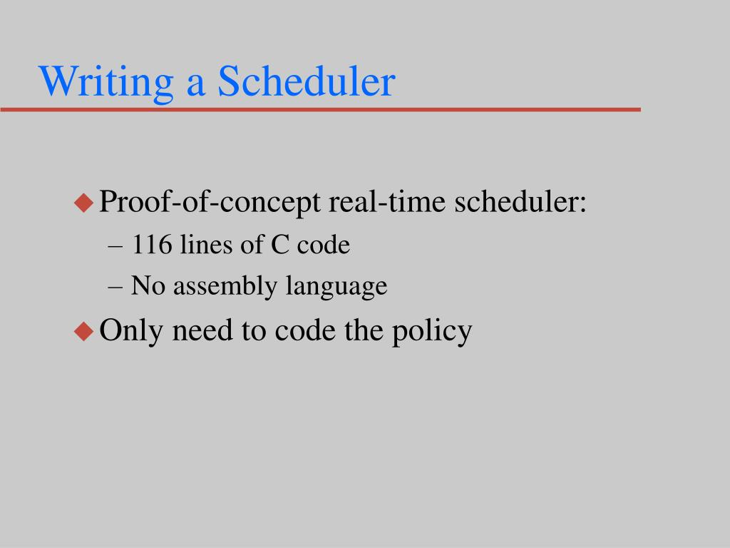 Writing a Scheduler