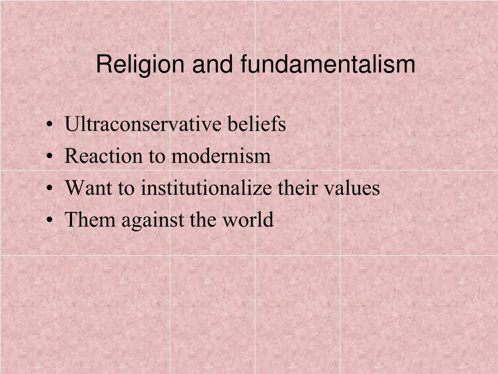 Religion and fundamentalism