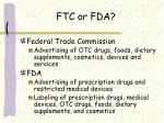 ftc or fda
