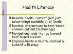 health literacy44