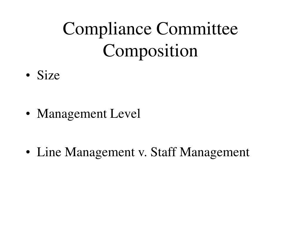 Compliance Committee Composition