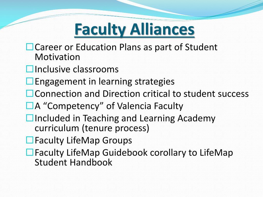 Faculty Alliances