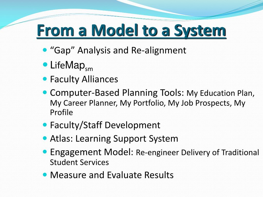 From a Model to a System