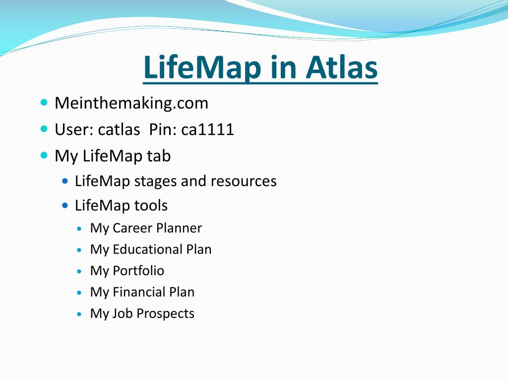 LifeMap in Atlas