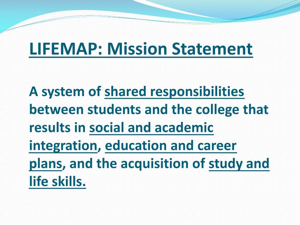 LIFEMAP: Mission Statement