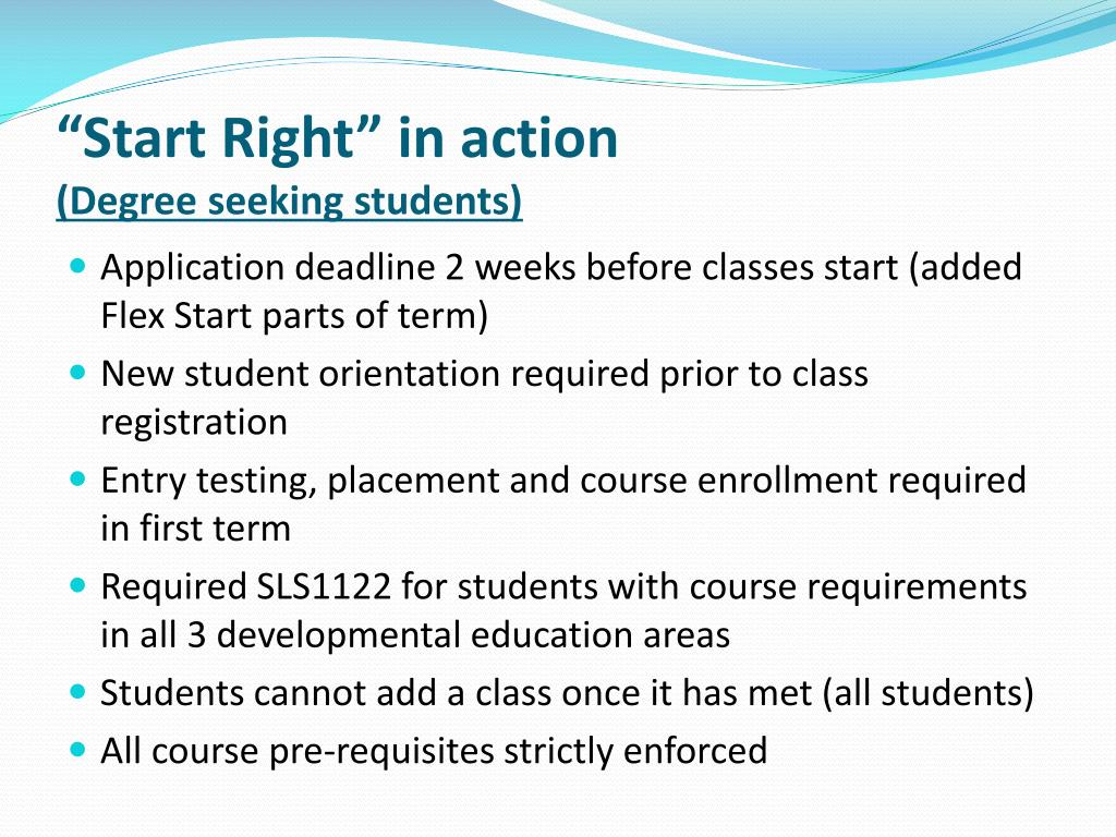 """""""Start Right"""" in action"""