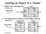 locating an object in a cache