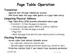 page table operation