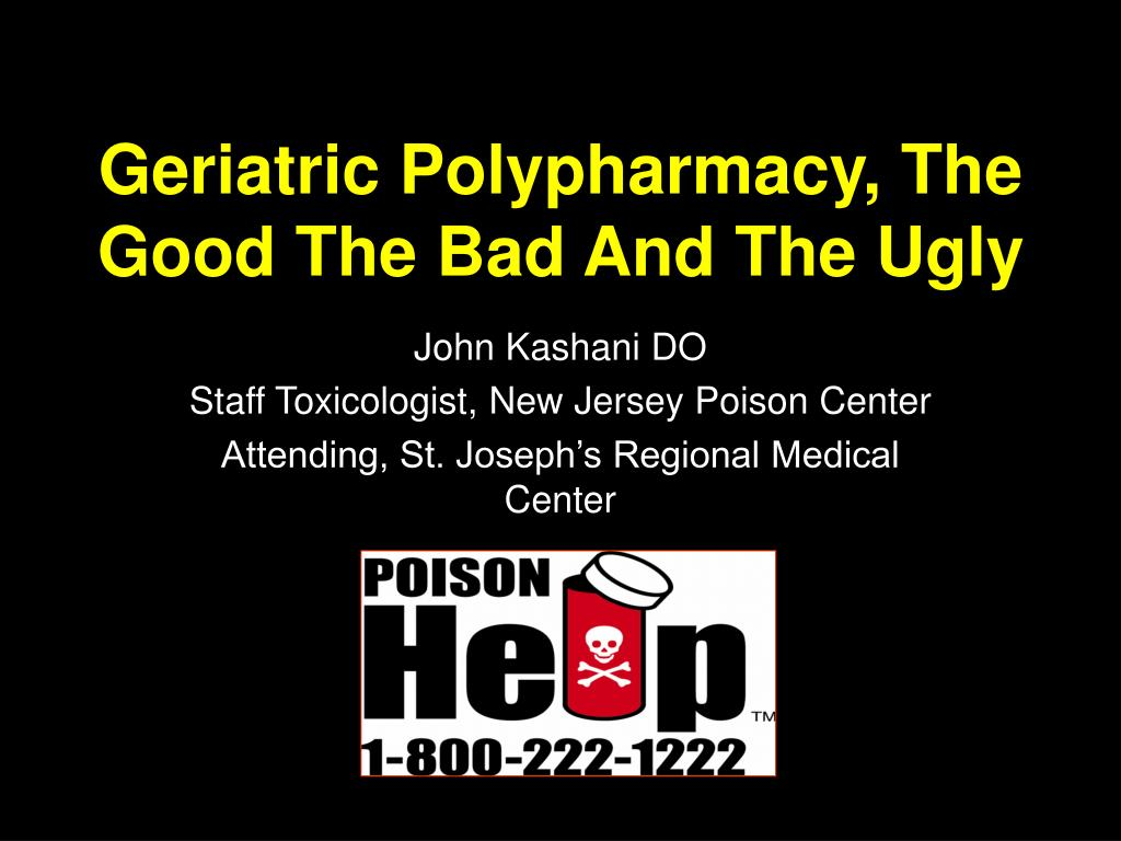 geriatric polypharmacy the good the bad and the ugly