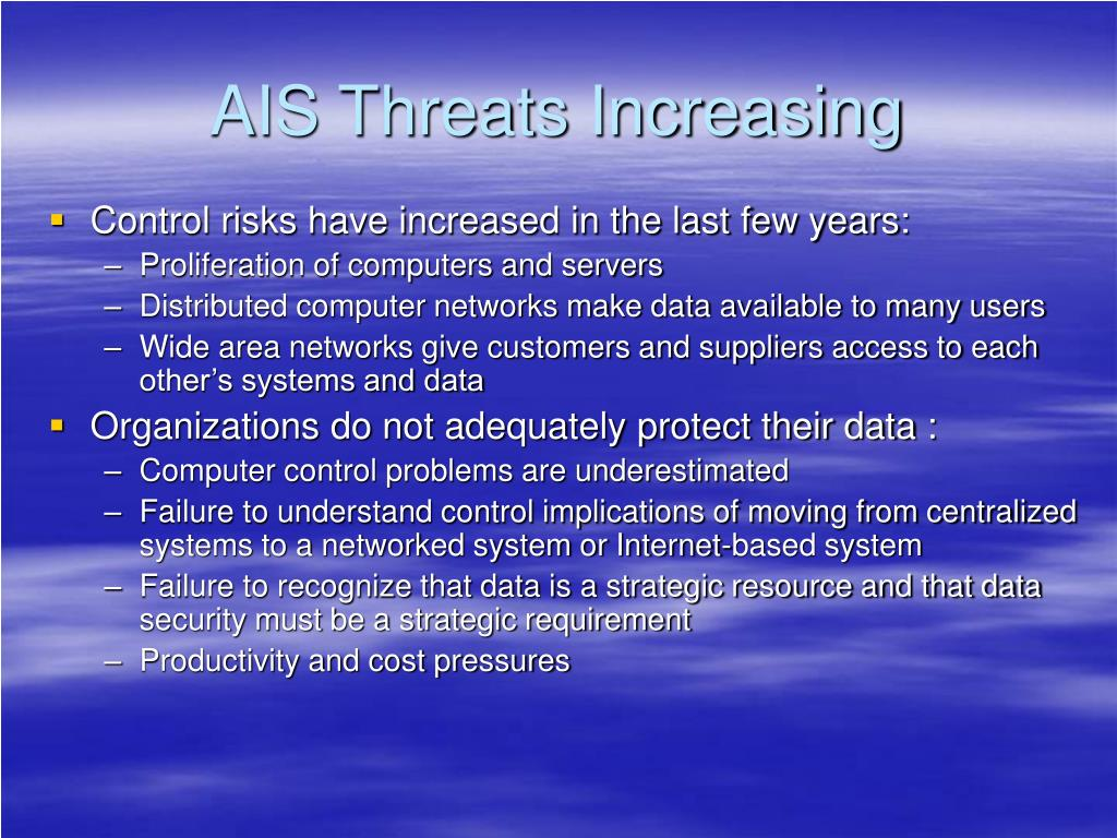 AIS Threats Increasing