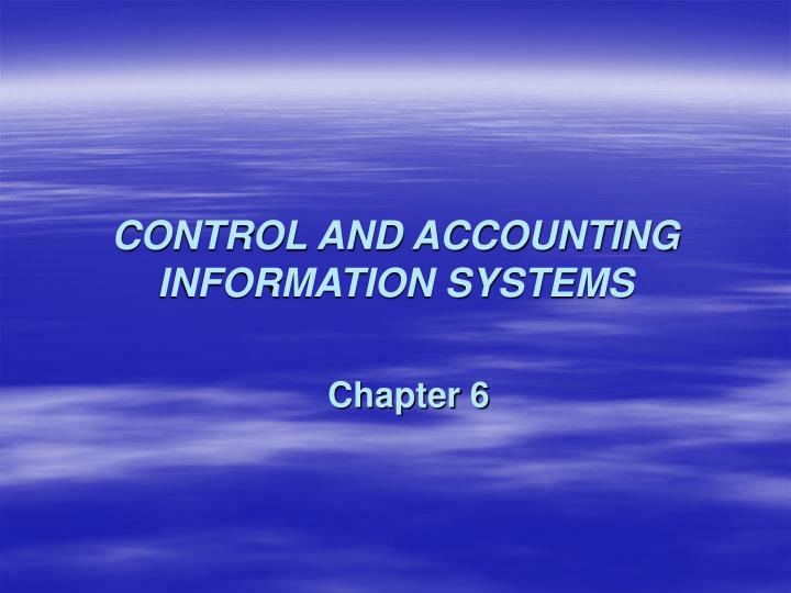 Control and accounting information systems