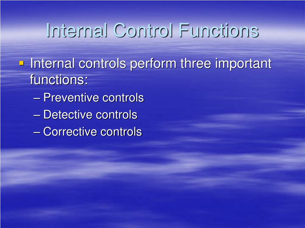 Internal Control Functions