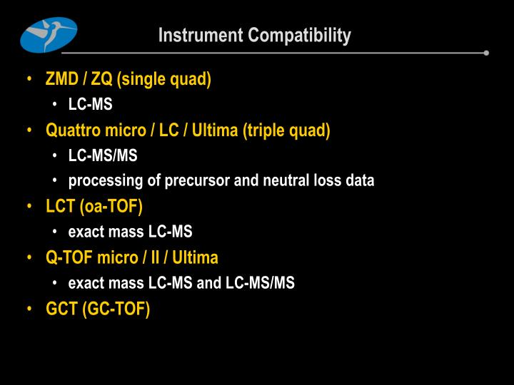 Instrument Compatibility