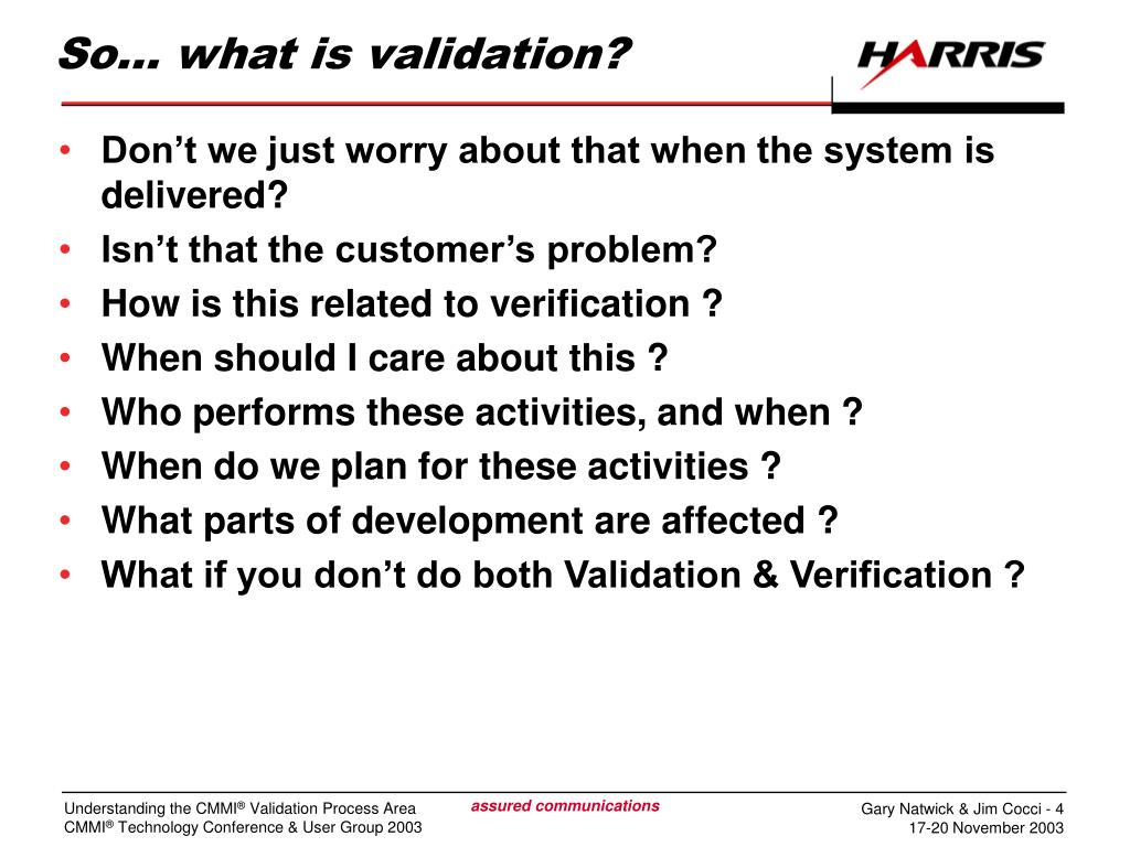 So… what is validation?