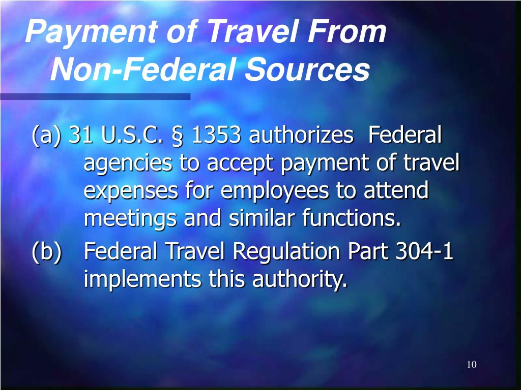 Payment of Travel From