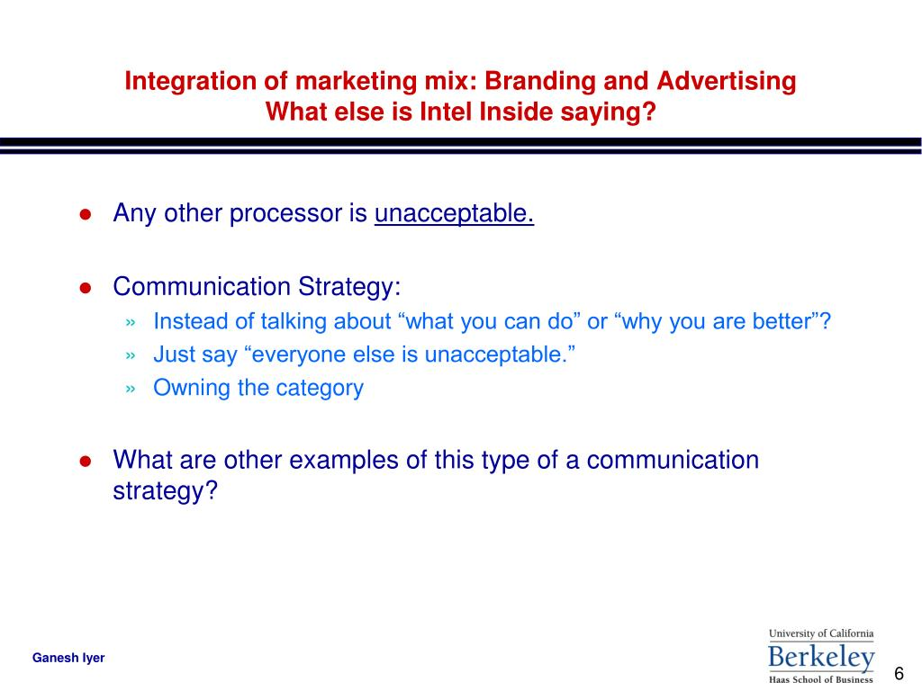 Integration of marketing mix: Branding and Advertising