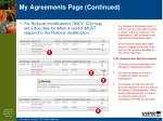 my agreements page continued