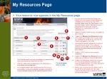 my resources page
