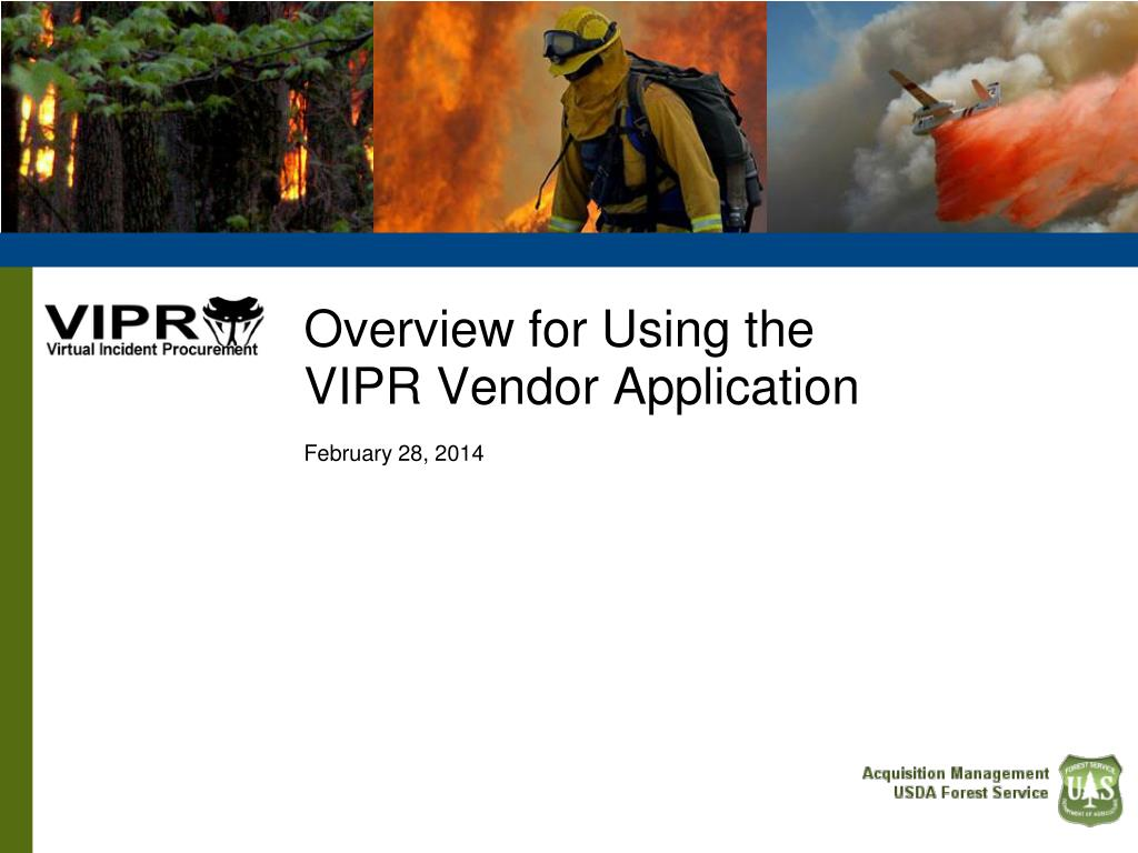 overview for using the vipr vendor application february 28 2014 l.