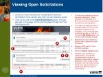 viewing open solicitations