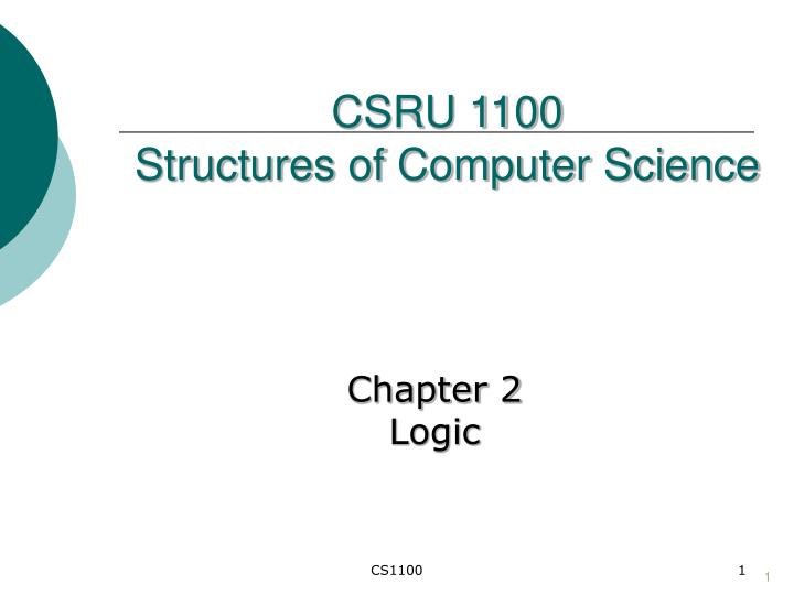 Csru 1100 structures of computer science