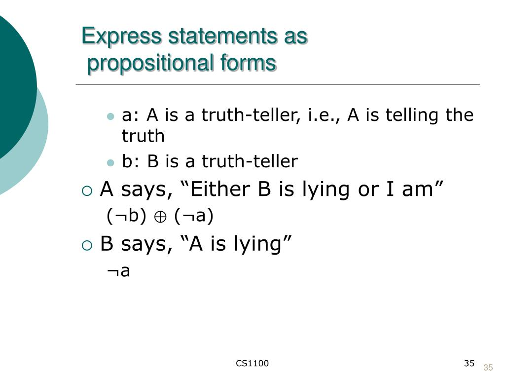 Express statements as